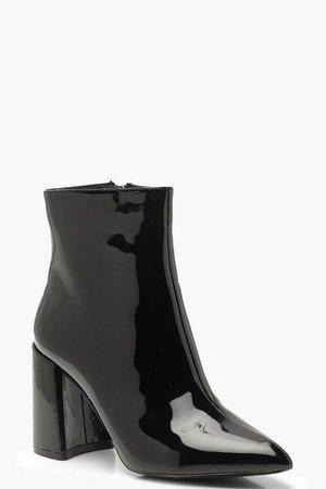 Block Heel Shoe Boots | Boohoo