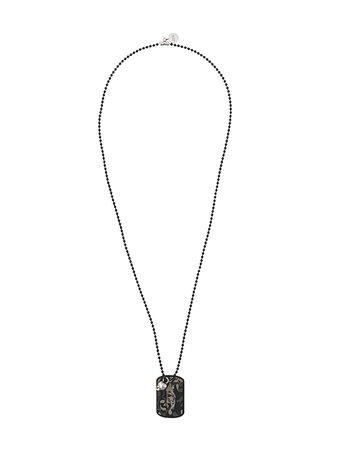Alexander McQueen Camouflage Identity Tag Necklace - Farfetch