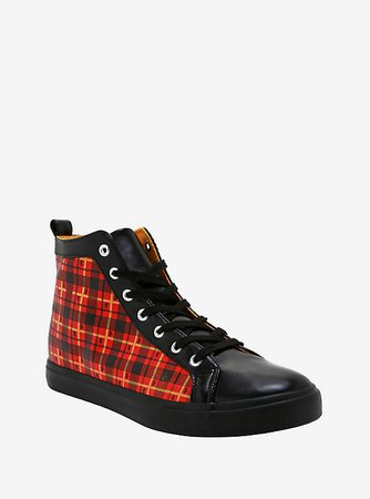 Harry Potter Gryffindor Plaid Hi-Top Sneakers