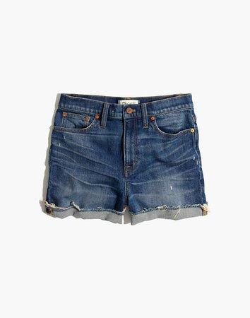 Women's High-Rise Denim Shorts in Glenoaks Wash   Madewell