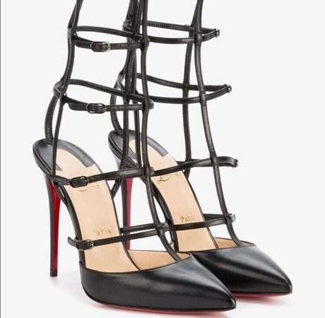 Authentic Christian Louboutin Kadreyana Caged Pumps