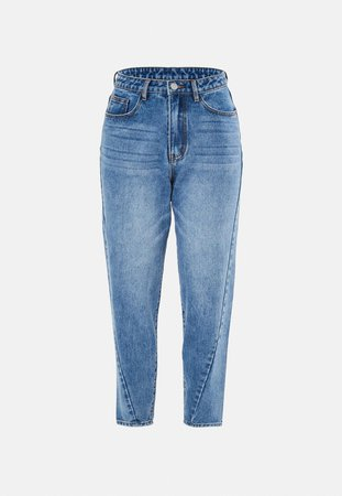 Blue Riot Twisted Seam Mom Jeans | Missguided