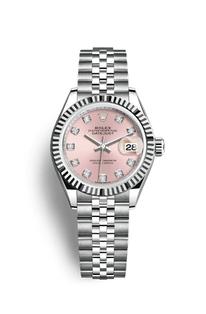 Rolex Lady-Datejust Watch: White Rolesor - combination of Oystersteel and 18 ct white gold - M279174-0003