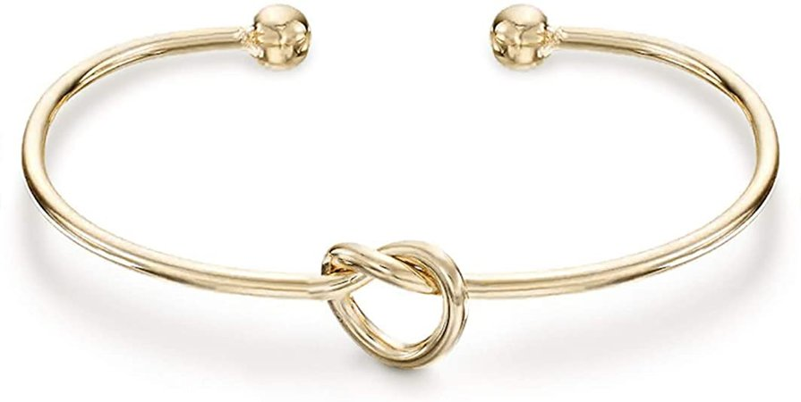Amazon.com: PAVOI 14K Gold Plated Forever Love Knot Infinity Bracelets for Women | Yellow Gold Bracelet: Jewelry