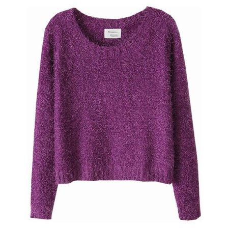 Purple winter sweater