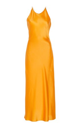 Cross Back Satin Slip Dress by Rosetta Getty | Moda Operandi