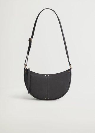 Leather cross body bag - Women | Mango USA