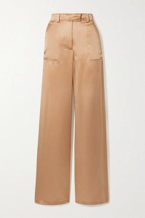 Peach Silk-satin wide-leg pants | TOM FORD | NET-A-PORTER