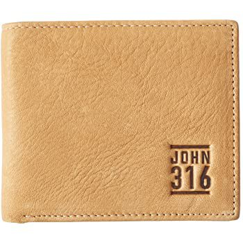 Christian Art Gifts Genuine Leather Wallet for Men | John 3:16 Bible Verse | Quality Classic Leather Saddle Tan Bifold Wallet | Christian Gifts for Men at Amazon Men's Clothing store