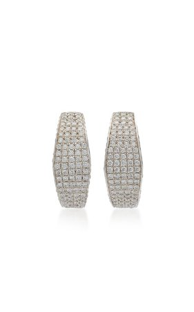 18K White Gold, Diamond & Sapphire Earrings by Ralph Masri | Moda Operandi