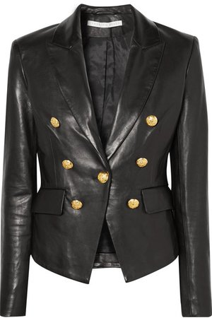 Veronica Beard | Cooke double-breasted leather blazer | NET-A-PORTER.COM
