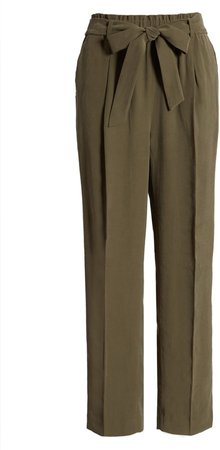 Straight Leg Tie Waist Pants