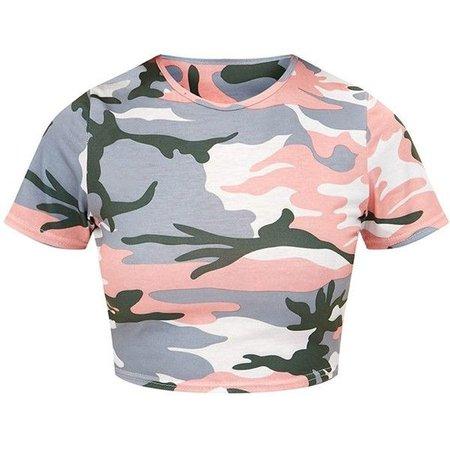 pink/grey camo top