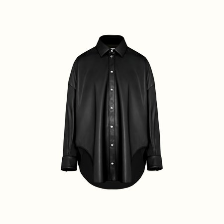Fenty FAUX LEATHER OVERSIZED SHIRT