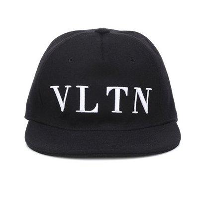 Valentino Garavani embroidered wool-blend cap