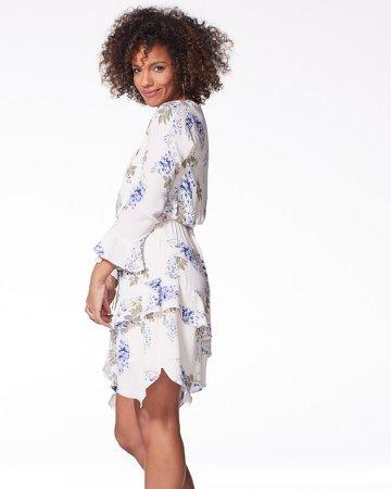 Floral-Print Ruffled Dress