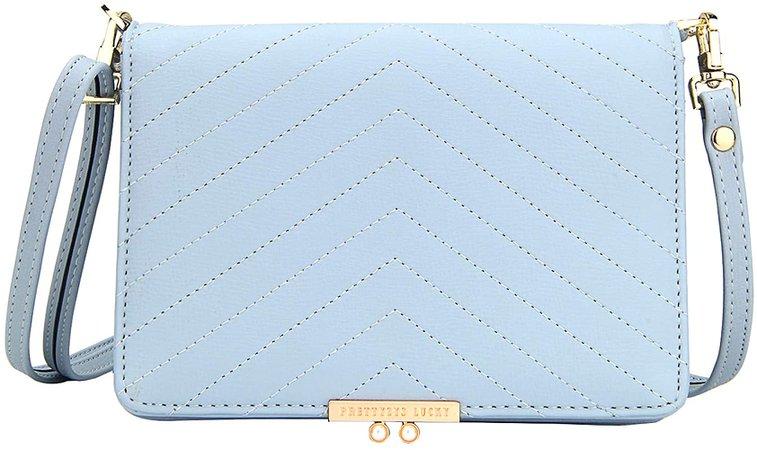 KUKOO Small Crossbody Bag for Women Cell Phone Purse Wallet Clutch Handbag with Credit Card Slots (A - Blue): Handbags: Amazon.com