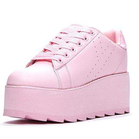 YRU Lala Platform Sneaker Pink