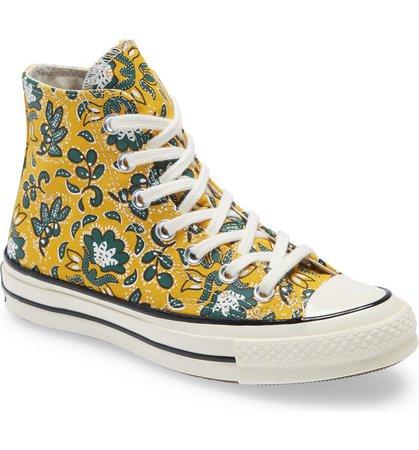 Converse Chuck Taylor® All Star® 70 Floral High Top Sneaker (Women) | Nordstrom