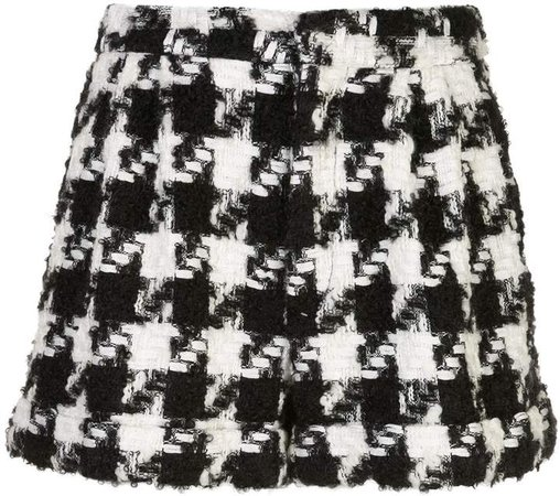 Alice+Olivia houndstooth pattern shorts