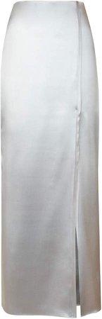 Alejandra Alonso Rojas High-Rise Silk Pencil Skirt