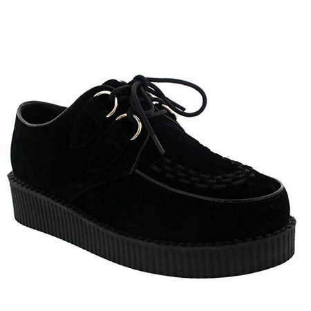 Amazon.com | Womens Vintage Gothic Punk Festival Flat Brothel Creepers Flatform Shoes - Black/Black - 10 | Shoes