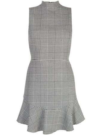 Black Alice+Olivia Checked Tennis Dress | Farfetch.com