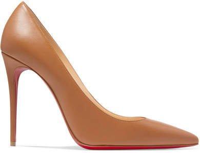 Kate 100 Leather Pumps - Tan