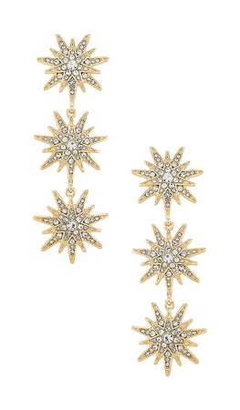 Bauble Bar Callisto Drop Earrings in Gold | REVOLVE