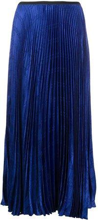 Lon Pleated Jacquard skirt