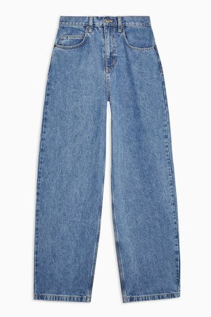 Mid Blue Baggy Jeans   Topshop