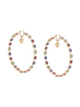 Versace crystal-embellished Medusa-motif Hoop Earrings - Farfetch
