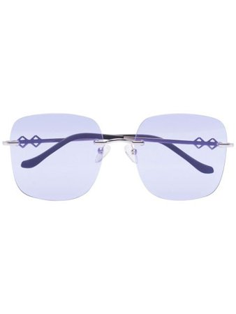 Karen Wazen MADISON Sunglasses MADISON Purple | Farfetch