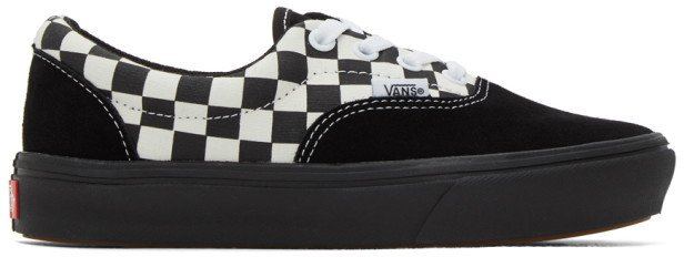 Black and White Mixed Media ComfyCush Era Sneakers