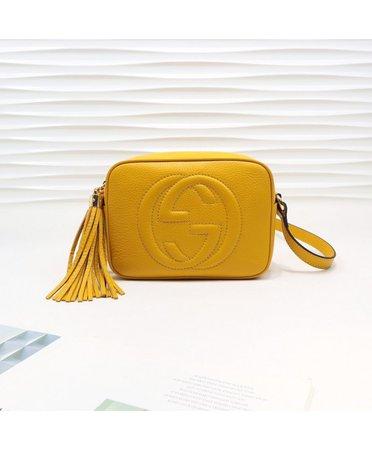 Gucci Soho Small Leather Disco Bag 308364 Lemon Yellow - Gucci - Handbags