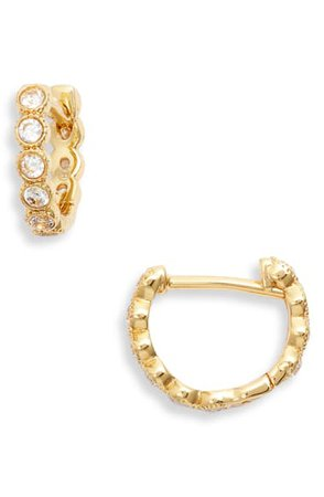 gorjana Madison Shimmer Huggie Hoop Earrings | Nordstrom