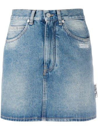 Off-White High Waist Denim Skirt - Farfetch