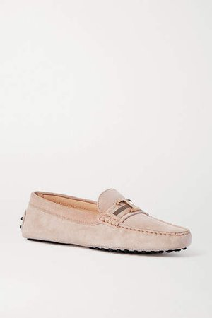 Gommino Suede Loafers - Blush