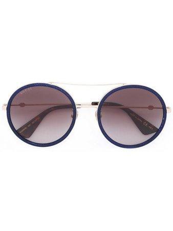 Gucci Eyewear round frame metal sunglasses