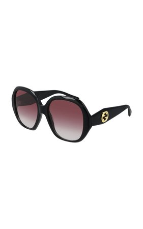 Oversized Round-Frame Acetate Sunglasses By Gucci | Moda Operandi