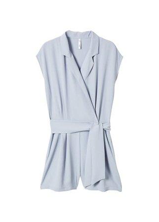 MANGO Wrap short jumpsuit