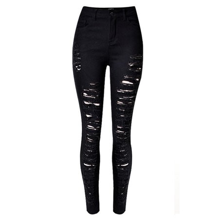 High Waisted Sexy Black Ripped Jeans For Women Casual Skinny Push Up Jeans 2017 Denim Hole Pants Big Size jeans feminino ZIH018-in Jeans from Women's Clothing & Accessories on Aliexpress.com | Alibaba Group