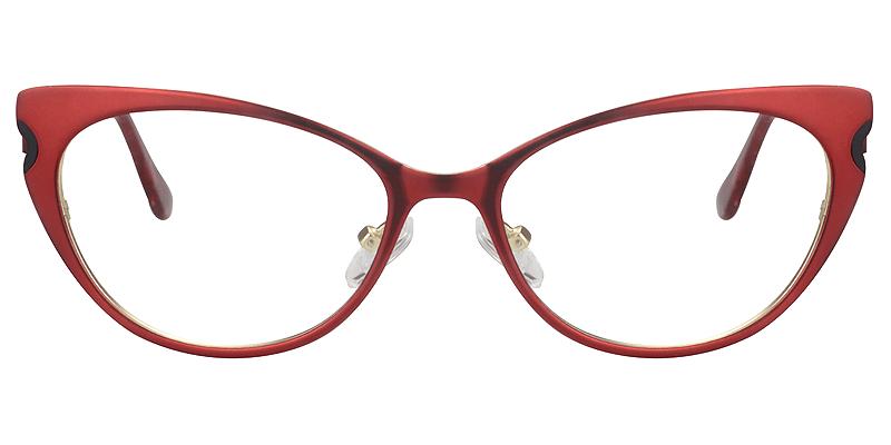 Cateye Red Glasses | Zeelool Eyeglass Frames