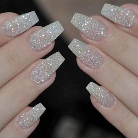 Ballerina Nails Acrylic False Nails Full Cover Natural/White/Clear Coffin Nail Tips Artificial French Fake Nail Tips Press On Nails False Nails From Cinda03, $22.34  DHgate.Com