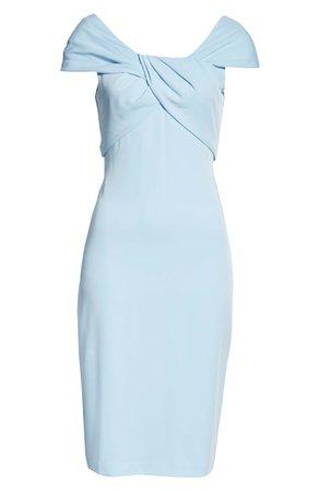 Taylor Dresses Cap Sleeve Sheath Dress blue