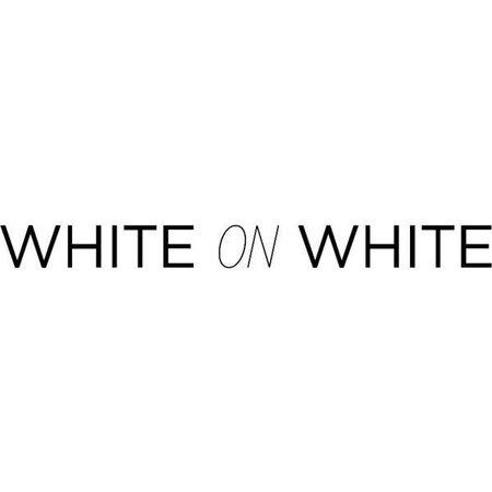 white on white text