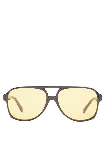 CELINE Navigator Acetate Sunglasses, Black | ModeSens