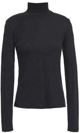 Kari Ribbed Cotton And Modal-blend Jersey Turtleneck Top
