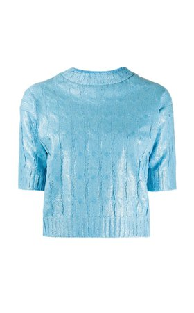 blue holo sweater