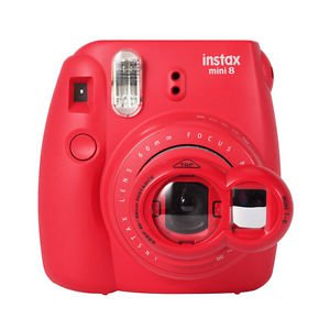 Red Polaroid Camera